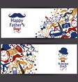 Happy fathers day banners set vector image vector image