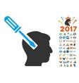 Head Screwdriver Tuning Icon With 2017 Year Bonus vector image vector image