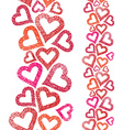Hearts seamless pattern vertical composition Love