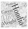 Hoodia diet with green tea Word Cloud Concept vector image vector image