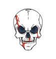 lined tattoo of skull vector image vector image