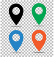 location pin icon on transparent pin on map vector image vector image