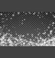 magic christmas snowfall falling white snowflakes vector image