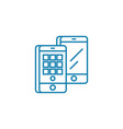 Mobile applications linear icon concept mobile