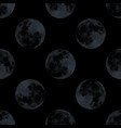 modern decorative seamless pattern with full moon vector image vector image
