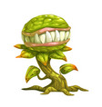 monster plant vector image vector image
