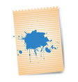 notepad with splatter vector image vector image