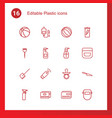 plastic icons vector image vector image