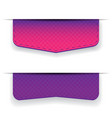 Purple ribbon set vector image vector image