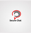 secure chat logo icon element and template vector image