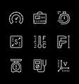 set line icons measurement vector image vector image