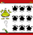 shadow differences game with alien vector image vector image