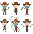 Sheriff and Bandit characters vector image vector image