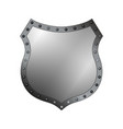 shield silver gray icon shape emblem vector image vector image