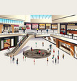 shopping mall vector image vector image