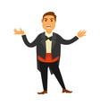 singer wearing tuxedo vector image vector image