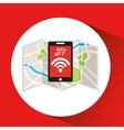 smartphone internet wifi icon vector image