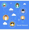 Social network media icons concept with people vector image vector image
