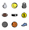 sport icons set cartoon style vector image vector image