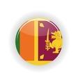 Sri Lanka icon circle vector image vector image