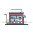 storefront on the street vector image