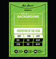 strong green pricing table banner or poster vector image vector image
