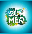 summer sale design with flower toucan and exotic vector image vector image