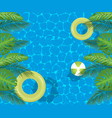 swimming pool top view background vector image