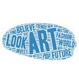 The Future Of Art Investment Ideas text background vector image vector image