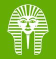 tutankhamen mask icon green vector image vector image