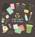 zero waste on kitchen vector image vector image