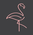 flamingo simple5 resize vector image