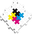 3d puzzle 19 vector image vector image