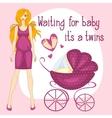 a pregnant women waiting for vector image vector image