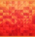 abstract geometric background in red color vector image vector image