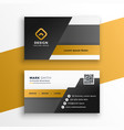 abstract geometric style business card design vector image vector image