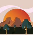 abstract landscape design vector image vector image