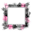 abstract template with black and pink tropical vector image vector image