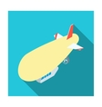 Airship icon in flat style isolated on white vector image vector image