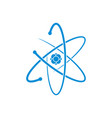 atom icon on white background vector image vector image