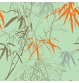 Bamboo Floral seamless pattern background