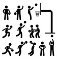 basketball player icon sign symbol pictogram a vector image vector image