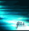blue glitch background for data crash vector image