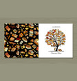 books library greeting card design vector image vector image