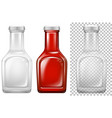bottle design in white and red vector image