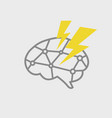 brain power icon vector image vector image