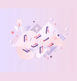 branding word design - isometric letters scattered vector image vector image