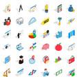 brick icons set isometric style vector image vector image
