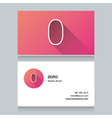 business card number 0 vector image vector image