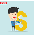 Businessman and financial check up vector image